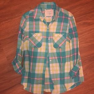 2/$20–Sonoma Plaid Button-down shirt